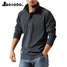 Shirts Men Long-Sleeved Military Casual Business Autumn Cotton Soqoool Leisure Loose
