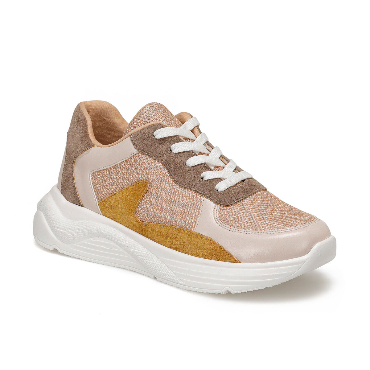 FLO JONAS Tan Women 'S Sneaker Shoes BUTIGO title=