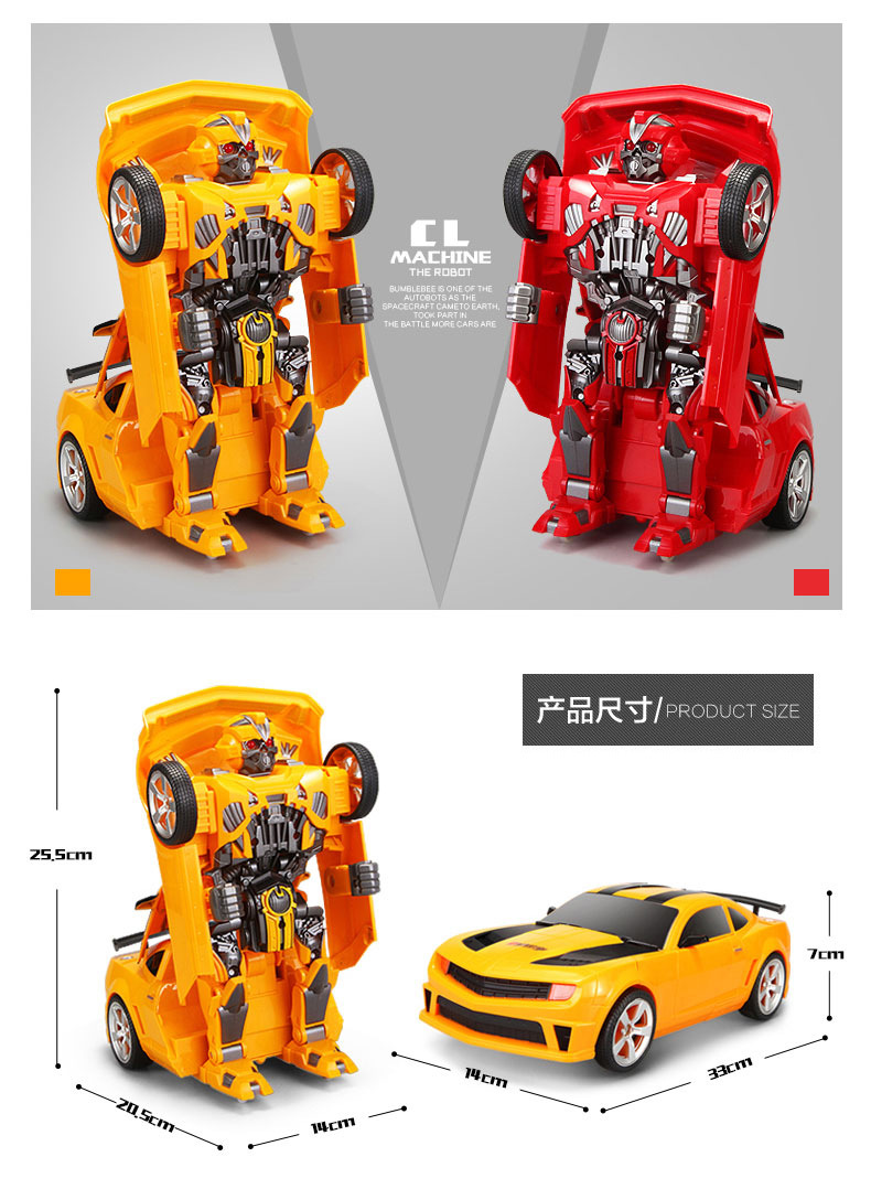 ThinkEasy RC Transformation 4 electric Toys one key remote control prime children robot car action figures class Boys Gift 26