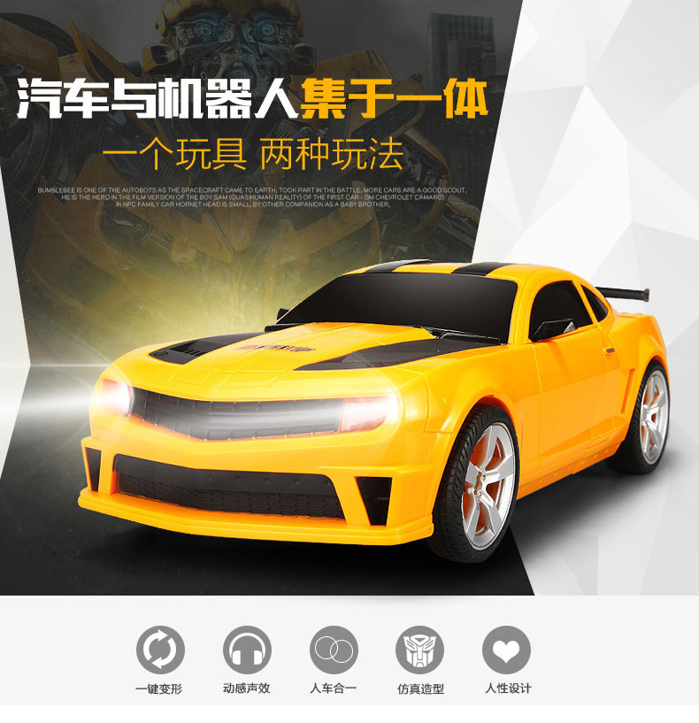 ThinkEasy RC Transformation 4 electric Toys one key remote control prime children robot car action figures class Boys Gift 17