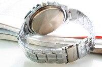 новый качество свободного покроя наручные часы из нержавеющей стали мода часы на cep мужские кварцевые спортивные часы мужчины стали часы
