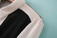 новое постулат минимальный коллекция цвет блок Chef дамы блузка, cauasl рубашки