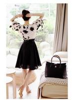 элегантный шифон юбка до середины бедра шифон длинное платье осень женщин 8514