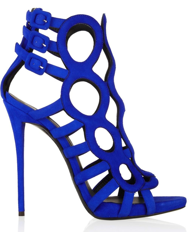 Chaussures bleu roi femme zZ9s9R