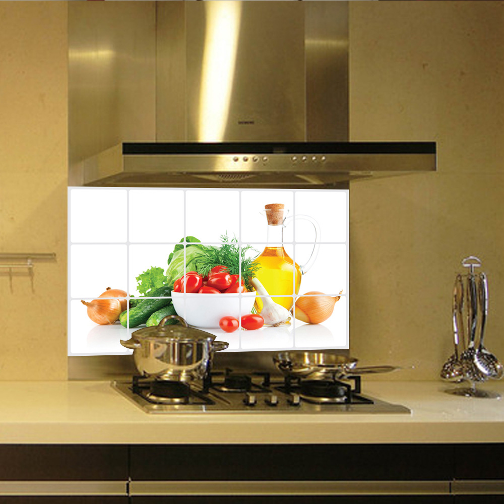 Vegetable Fruit Anti Oil Kitchen Wall Tile Stickers Removable Waterproof  Wall Stickers Home Decor Kitchenin Wall Stickers From Home & Garden On