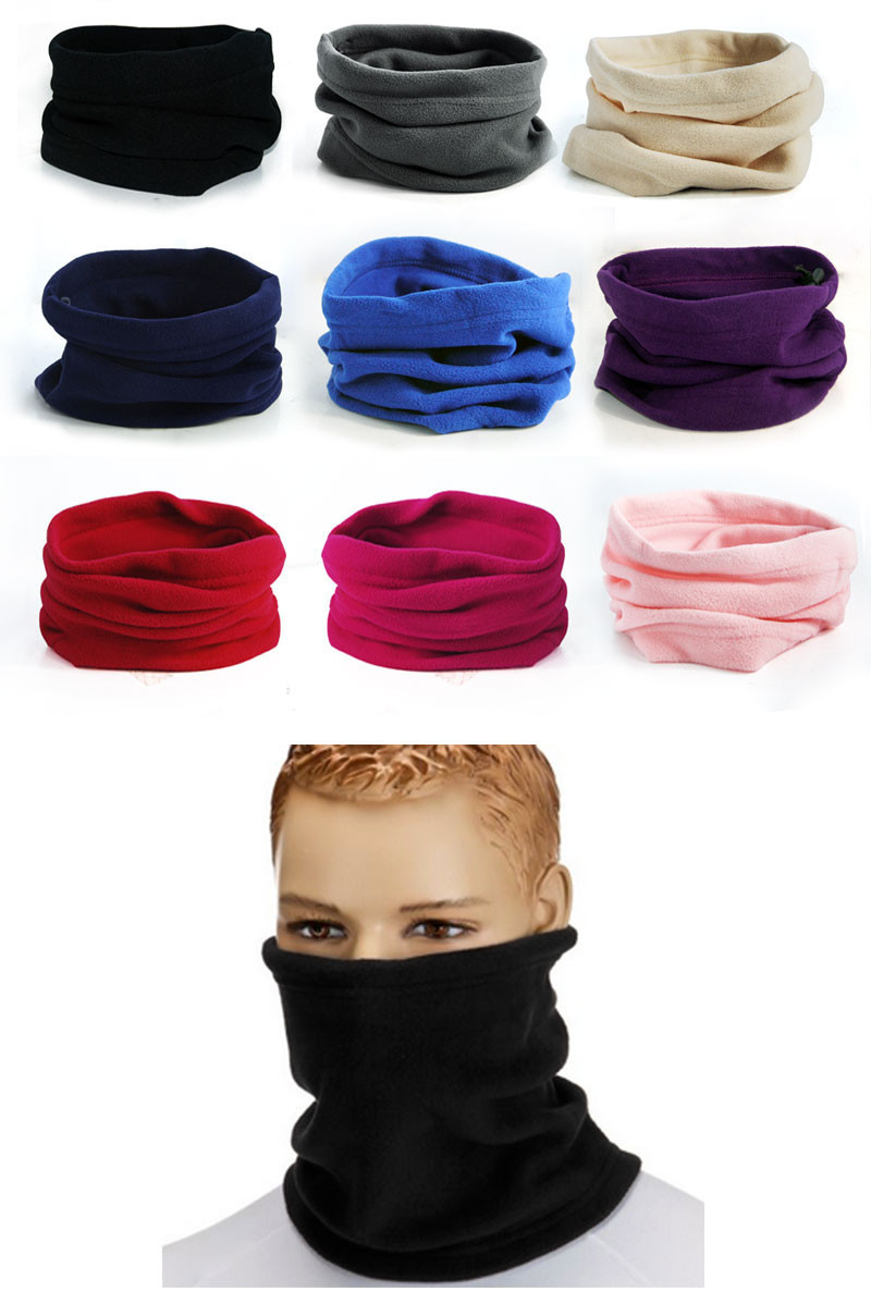 3 in 1 Multifunctional Scarf Unisex Men Women Fleece Thermal Snood Hat Neck Warmer Ski Scarf Beanie Balaclava 13