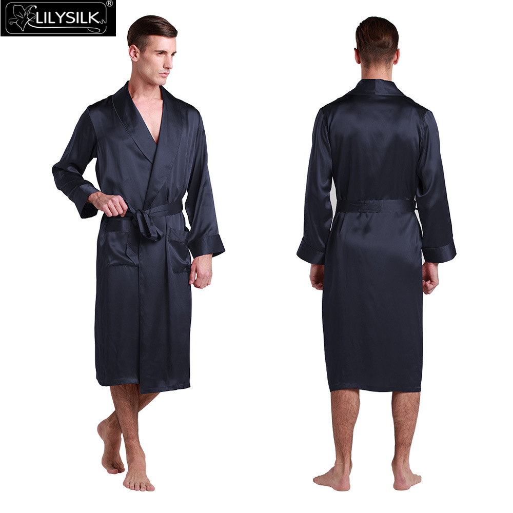 100% Silk Classic Long Robe