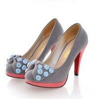 женские туфли мода бархат ультра туфли на каблуках платформа вокруг пальца одной туфли