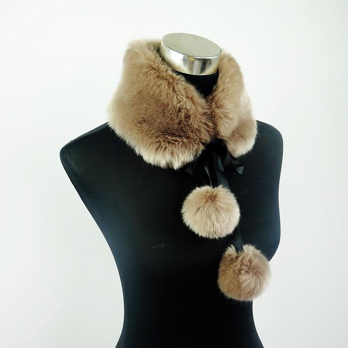 Soft Pom Pom Fur Collar | Neck Scarves