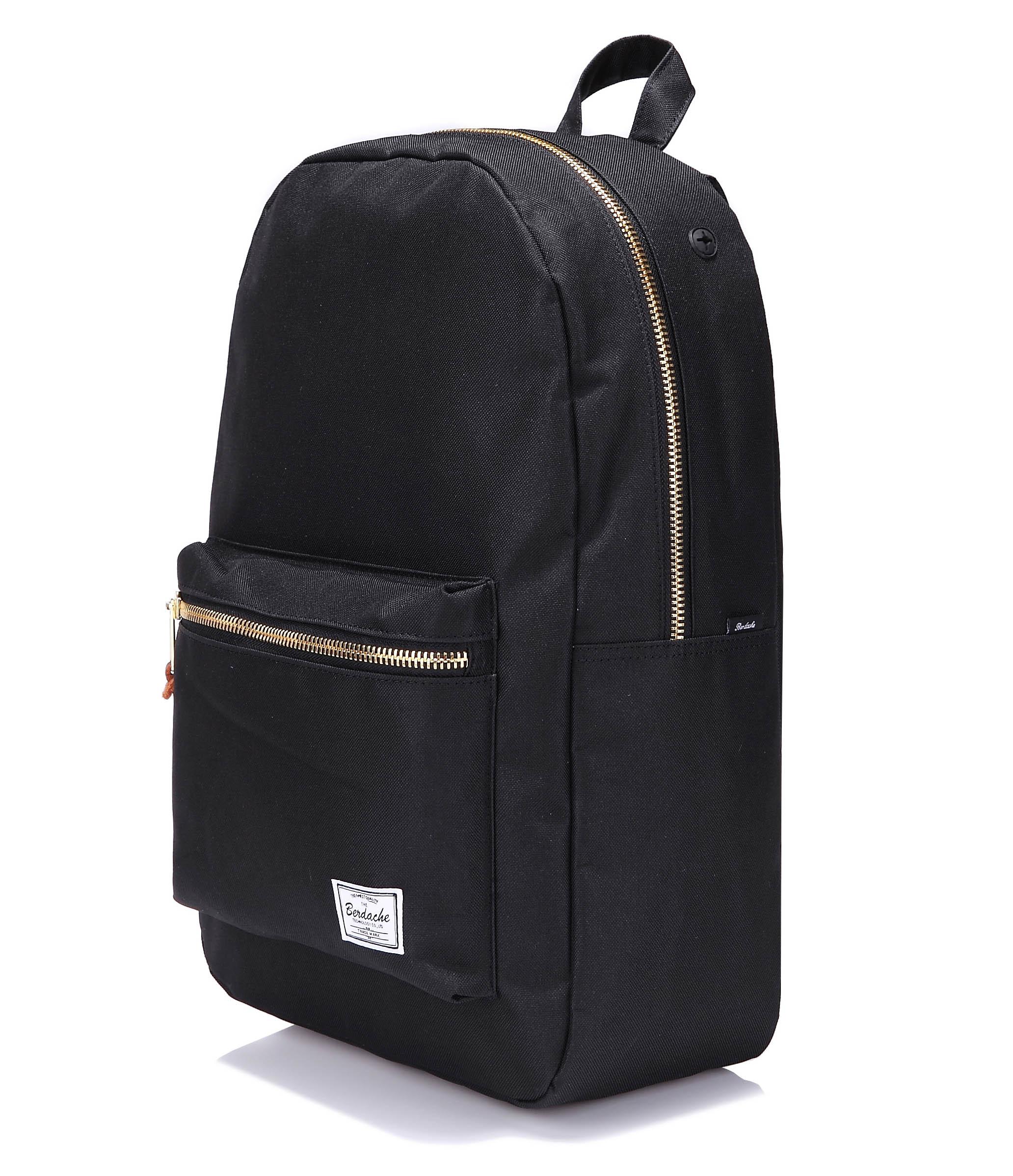 Aliexpress.com : Buy Gold metal zipper black casual men backpack ...