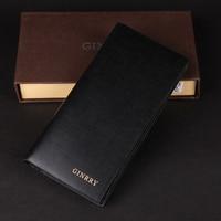 ginrry коровьей-мужчин бумажник с дизайн мужская бумажник черный 2
