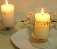 ужин при свечах плюс подсвечник / золото серебро резные утюг подсвечник европейский свечи / рождественский подарок