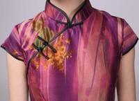 шелк весна мода винтаж женщин s092a чонсам