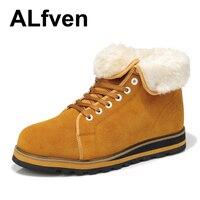 альфвеновская приливного течения мужские ботинки мужские из натуральной кожи тепловой - хлопка-ватник туфли мужской сапоги 1216