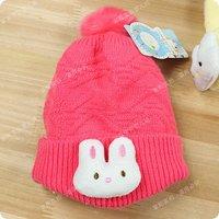осень и зима мультфильм большой кролик ребенка шляпа вязаная шапка новорожденных шлем типа