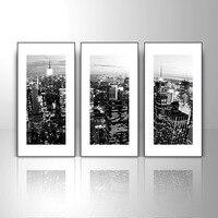 современный черный и белый декоративной живописи краткое коробка искусства телевизор фон стены множество ROC 3