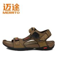 сандалии-мужчин лето свободного покроя дышащий на открытом воздухе сандалии из натуральный кожи сандалии