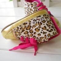 0 - 1 ребенок в мода леопардовым принтом мягкие первые ходоки / малыша туфли, бренд дизайн размер 11 - 16 бесплатная доставка