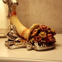 wanlang мода настольная лампа деревенский цветок освещение кровать - освещение смолаы ночники 8810