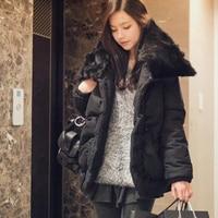 зима хлопка-VAT VAT женщин большого negro колики утолщение средней длины - большой размер верхняя одежда