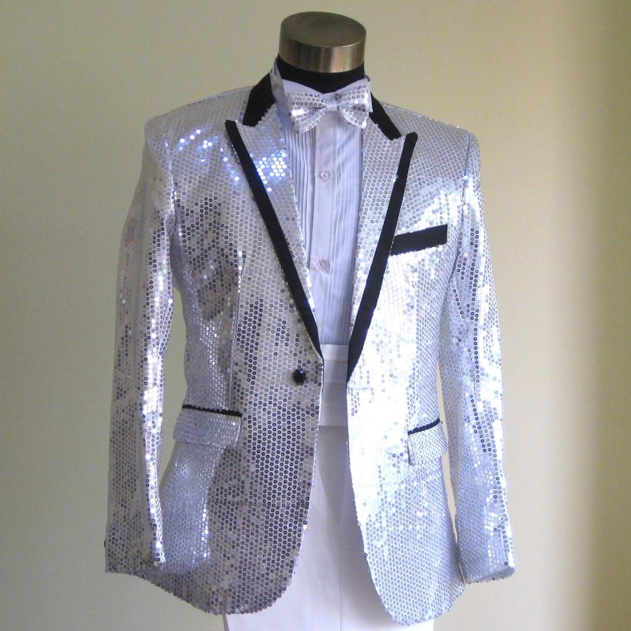 2018 Silver Chorus Mariage Groom Wedding Suits For Men Blazer Boys ...