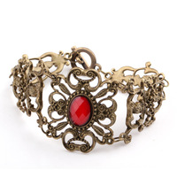 старинные ювелирные изделия - рубин выдалбливают морской леди любовные bralcelet мода, заказ смешивания, бесплатная доставка