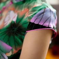 прорезиненная тесьма ретро без рукавов женщины платье китай ячмень чонсам красочные м / L / хl / ххl / XXXL осенняя / мед