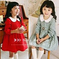 бесплатная доставка в розницу осень новое падение мода принцесса с длинным рукавом маленькая девочка - часть платья