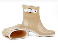 мода элегантные женские сапоги элегантный гольфы резиновая дождь сапоги обувь