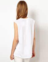 письмо о-образным вырезом рукавов белая футболка женщины бренд майка с коротким рукавом бесплатная доставка женская печатных тенниски