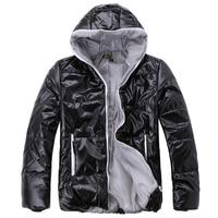 куртка хлопок - мягкий короткая, вилочная часть дизайн мужчины в глянцевая толстовка ватные черный кофе от