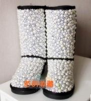 Linda заказ жемчужный снегоступы настроить высокое качество текстуры Роско полный из rustle и жемчуга роман снегоступы