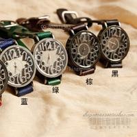 срок Got кожа кварцевые наручные часы, женщины часы с циферблат Vintage bolivia кожа часы полоса воды-bl020