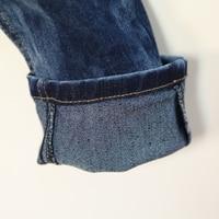весна новые детская одежда шестигранная Banner мускус пола ребенка женского пола джинсы длинные брюки 4056