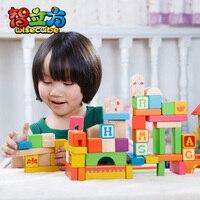 изо Dora письмо 80 деревянных игрушки строительные блоки развивающие игрушки 1.8