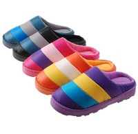 на домашние тапочки осень и зима хлопка-ватник тапочки домашние тапочки женская обувь воды - цвет ткань