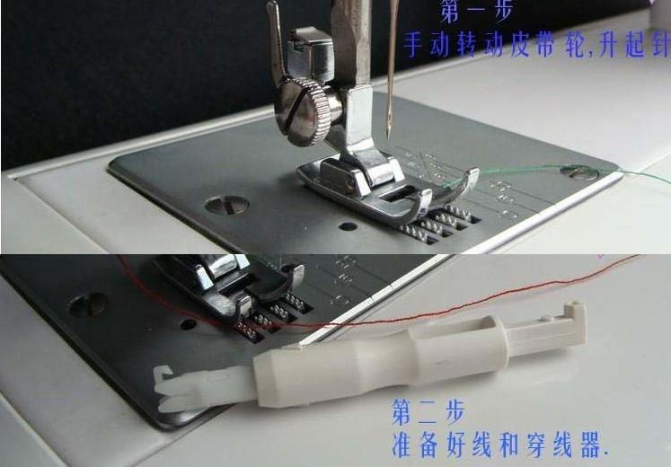 1 חתיכה באיכות גבוהה משולבת מכונת תפירה השחלה מכשיר ידני מחט המכשיר מיוצר בטייוואן