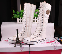 бесплатная доставка хиты распродажа мода ёенщины кроссовки высокое колено парусиновые туфли свободного покроя туфли для женщин
