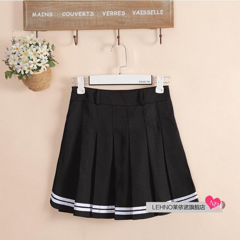 ee9fe7a81c Japón de moda de Estilo de Muy Buen Gusto Negro Faldas Dobladillo ...