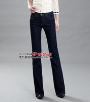 вспышки в брюки с высокой талией в нижние тонкий женские джинсы 3f02