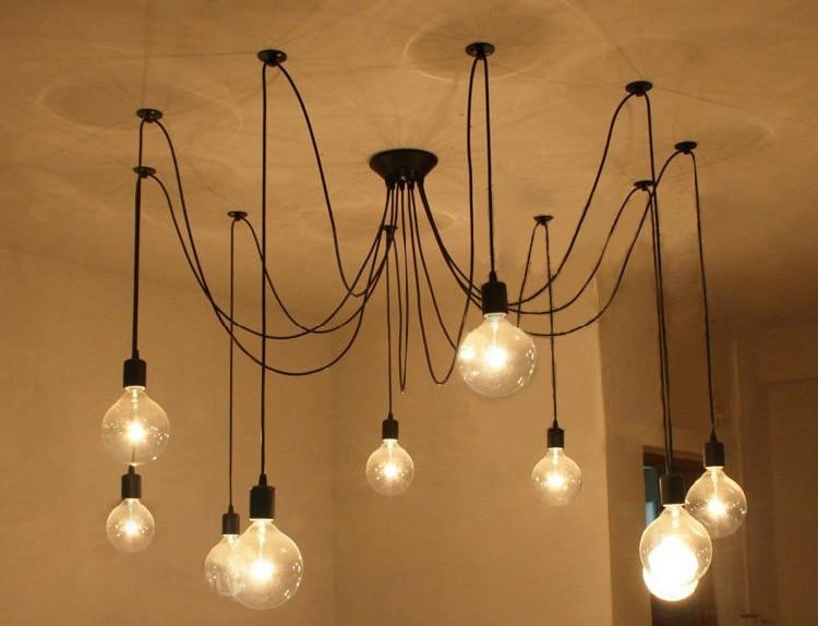 Loft American Vintage Pendant Lights Restaurant/Bedroom/Bar Lamp Country Industrial Edison Lamp 3/6/8/10/12/14/16 Light Home Dec 6