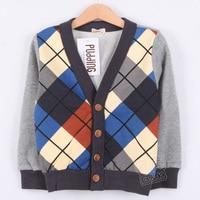 sunlub бесплатная доставка осень и зима цвет блок украшения плед мальчиков одежда ватки кардиган мас-0897
