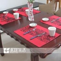 ткань циновка обеденный стол. / облако салфетки изоляции плита чаша колодки / войлок коврики и колодки инновационные элементы