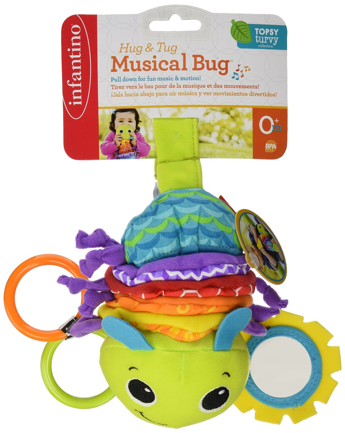 Infantino Twist Caterpillars Sound Hanging Baby Rattles With Teethers Multifunction Bed Car Hang Toy Musical Bug In Mobiles From Toys