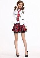 осень и зима красный с ди сырой Cole форма девушки Cole форма Mask школы не мода школы должен форма