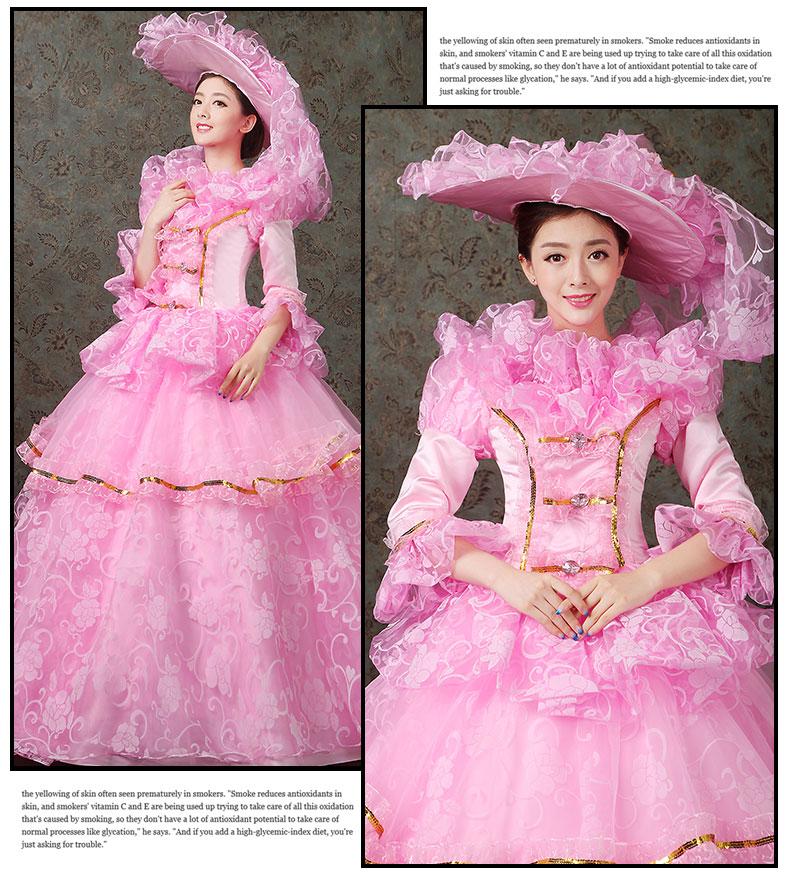 women dress Elegant fashion female royal clothing costume royal female clothes series 16