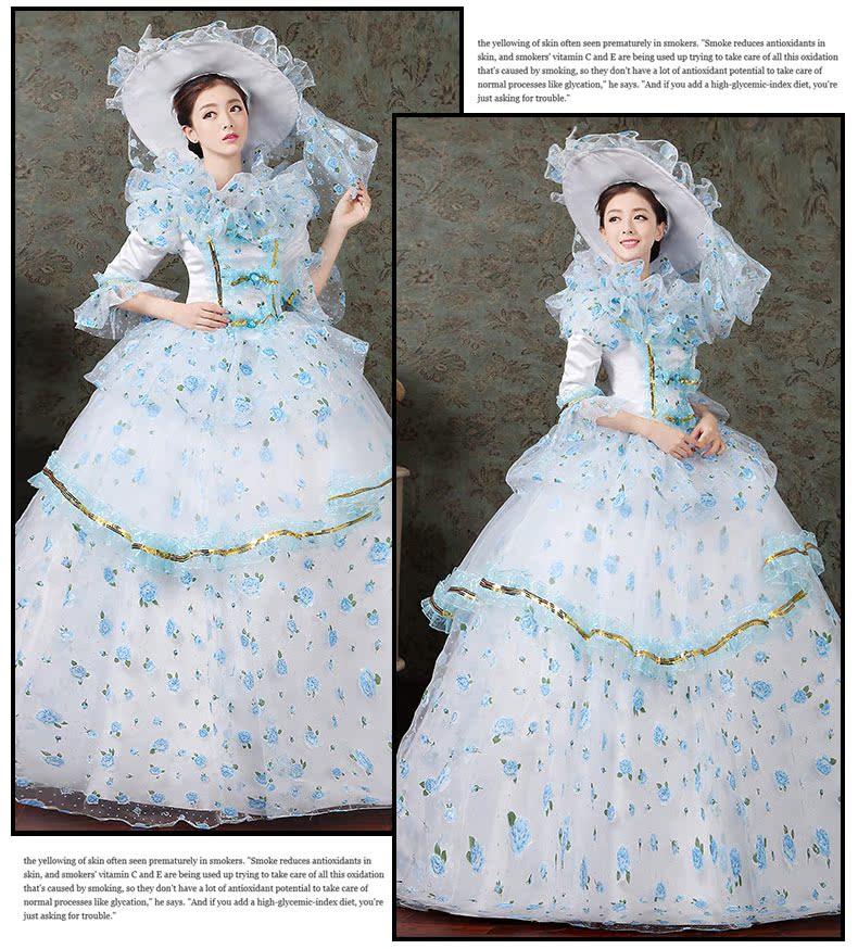 women dress Elegant fashion female royal clothing costume royal female clothes series 6