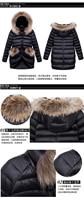 горячая распродажа европа мода мех с капюшоном зима тонкий длинный пуховик пальто мода парки верхняя одежда бесплатная доставка f15152