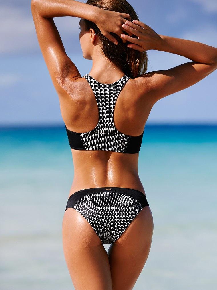 Sports Bikini 17 Raglan Zipper Patchwork Bikini Sets Bra Padded Swimsuit Swimwear Women Bathing Suit S74504 4