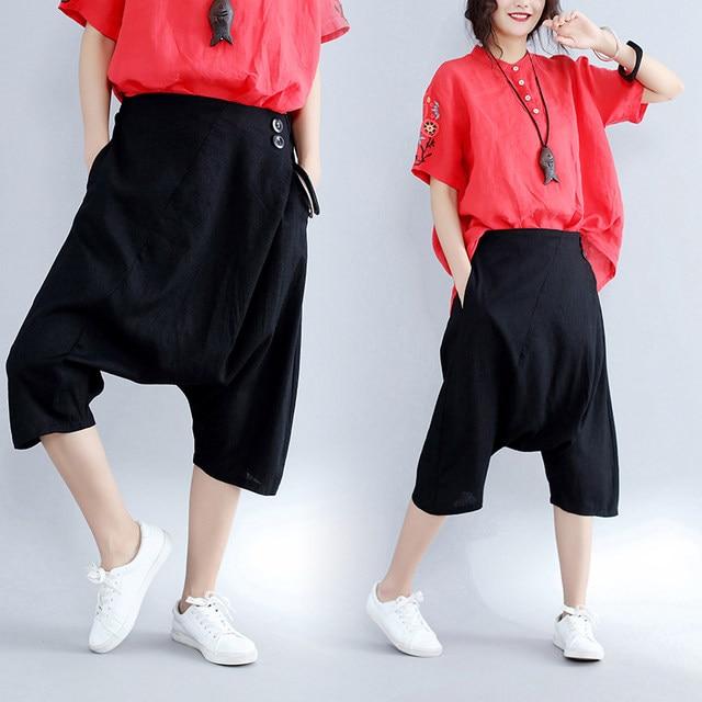 dc5113380ff Clobee Vintage Stripe Harem Pants Trousers Corduroy Slim High Elastic Waist  Chino Plus Size Loose Casual Pantlone Femme X87